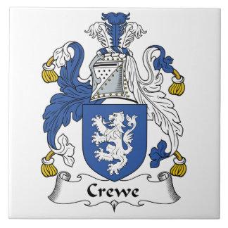 Escudo de la familia de Crewe Azulejo Cuadrado Grande