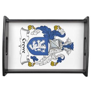 Escudo de la familia de Crewe Bandeja
