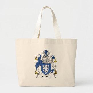 Escudo de la familia de Crewe Bolsa Tela Grande