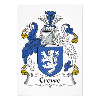 Escudo de la familia de Crewe Invitaciones Personalizada