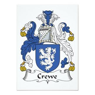 """Escudo de la familia de Crewe Invitación 5"""" X 7"""""""