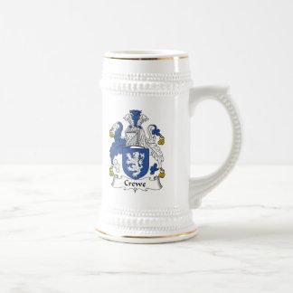 Escudo de la familia de Crewe Jarra De Cerveza