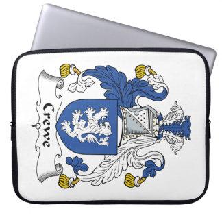 Escudo de la familia de Crewe Mangas Computadora