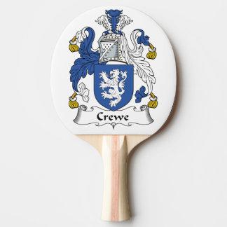 Escudo de la familia de Crewe Pala De Tenis De Mesa
