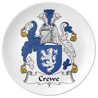 Escudo de la familia de Crewe Platos De Cerámica
