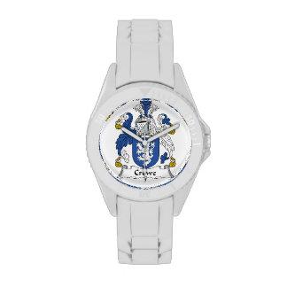 Escudo de la familia de Crewe Relojes