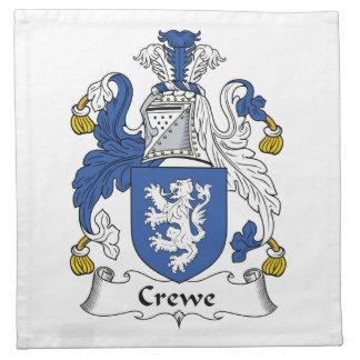 Escudo de la familia de Crewe Servilleta Imprimida
