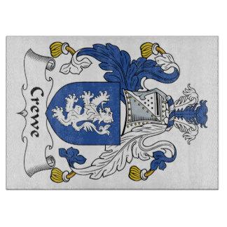 Escudo de la familia de Crewe Tabla De Cortar
