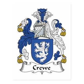 Escudo de la familia de Crewe Tarjeta Postal