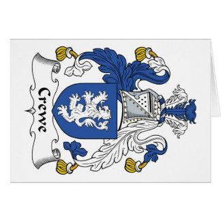 Escudo de la familia de Crewe Tarjeton