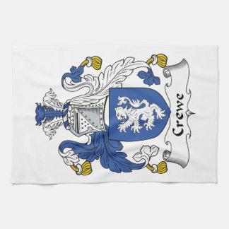 Escudo de la familia de Crewe Toalla De Mano