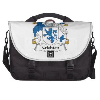 Escudo de la familia de Crichton Bolsas Para Portatil
