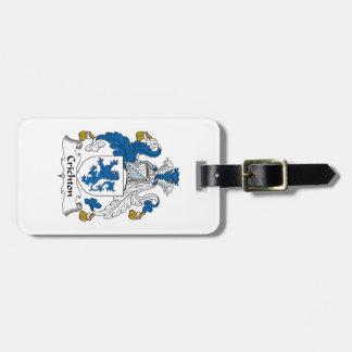 Escudo de la familia de Crichton Etiquetas Para Equipaje