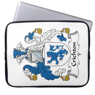 Escudo de la familia de Crichton Fundas Portátiles