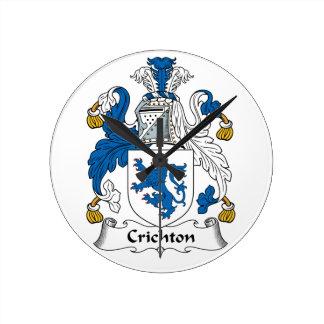 Escudo de la familia de Crichton Relojes