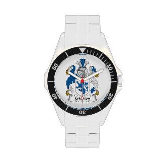Escudo de la familia de Crichton Relojes De Mano