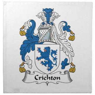 Escudo de la familia de Crichton Servilleta Imprimida