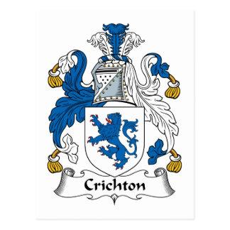 Escudo de la familia de Crichton Tarjetas Postales