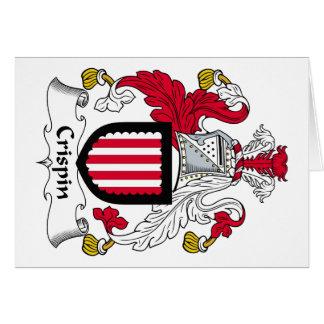 Escudo de la familia de Crispin Felicitación