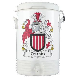 Escudo de la familia de Crispin Vaso Enfriador Igloo