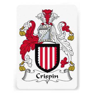 Escudo de la familia de Crispin Invitacion Personalizada