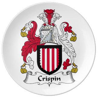Escudo de la familia de Crispin Plato De Cerámica