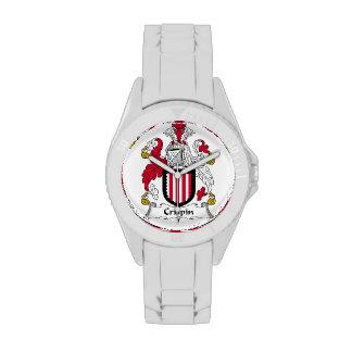 Escudo de la familia de Crispin Reloj De Mano