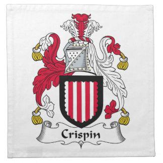 Escudo de la familia de Crispin Servilleta Imprimida