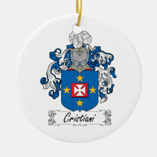 Escudo de la familia de Cristiani Ornamentos De Reyes Magos