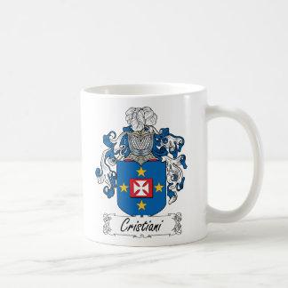 Escudo de la familia de Cristiani Tazas De Café