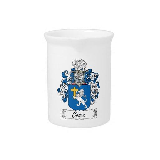 Escudo de la familia de Croce Jarrones