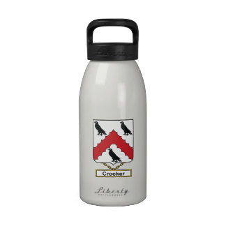 Escudo de la familia de Crocker Botella De Agua Reutilizable