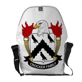 Escudo de la familia de Crocker Bolsas De Mensajeria