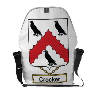 Escudo de la familia de Crocker Bolsas Messenger