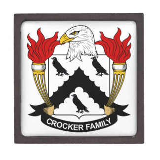 Escudo de la familia de Crocker Caja De Regalo De Calidad