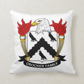 Escudo de la familia de Crocker Cojines