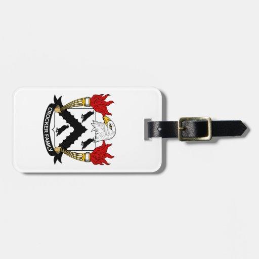 Escudo de la familia de Crocker Etiquetas Para Maletas