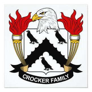 """Escudo de la familia de Crocker Invitación 5.25"""" X 5.25"""""""