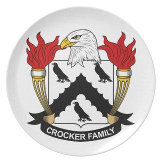 Escudo de la familia de Crocker Plato