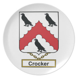Escudo de la familia de Crocker Plato De Cena