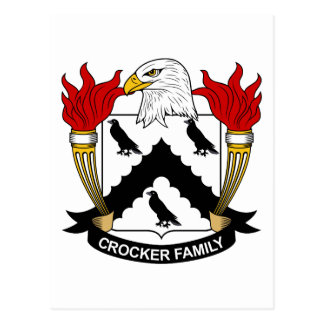 Escudo de la familia de Crocker Postales
