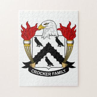 Escudo de la familia de Crocker Rompecabezas