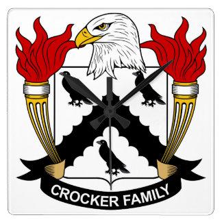 Escudo de la familia de Crocker Reloj
