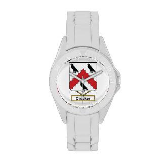 Escudo de la familia de Crocker Reloj De Mano