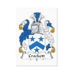 Escudo de la familia de Crockett Impresiones En Lona