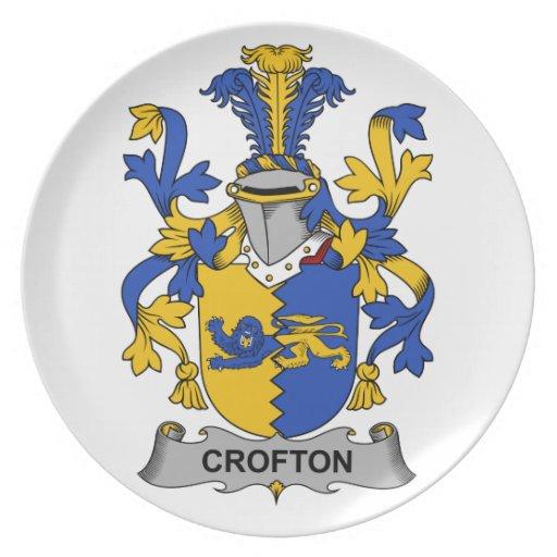 Escudo de la familia de Crofton Plato De Cena