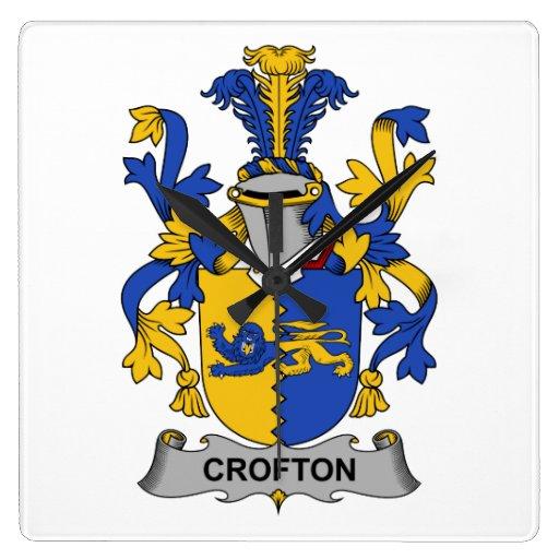 Escudo de la familia de Crofton Reloj De Pared