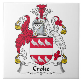 Escudo de la familia de Croke Azulejo Cerámica