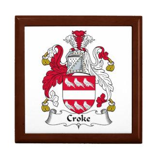 Escudo de la familia de Croke Cajas De Joyas