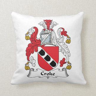 Escudo de la familia de Croke Almohadas